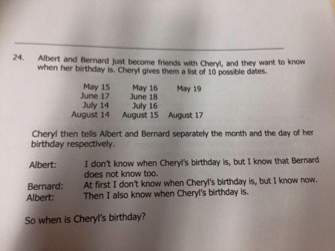 cheryl birthday